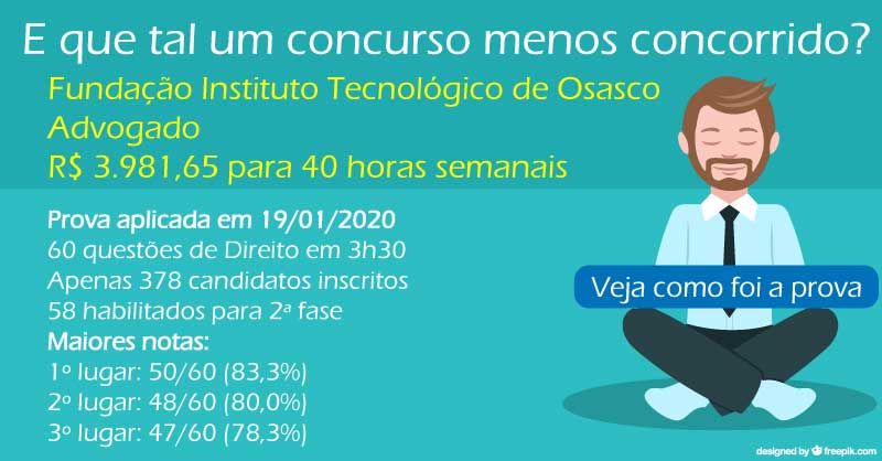 Prova em formato interativo: Advogado - FITO/2020